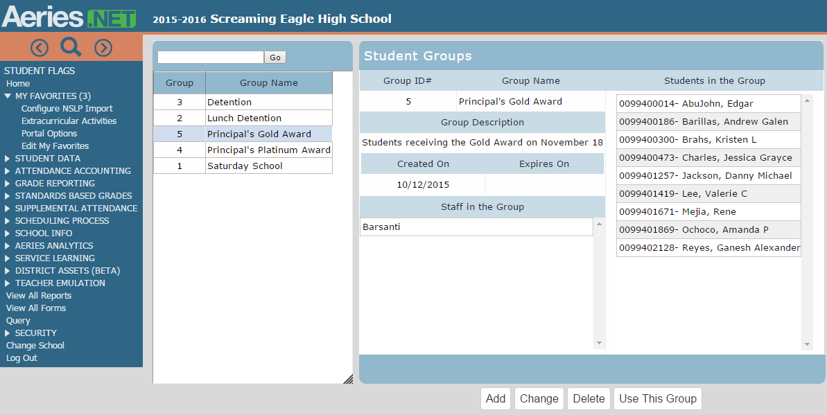 Aeries Student Information System - Eagle Software ...