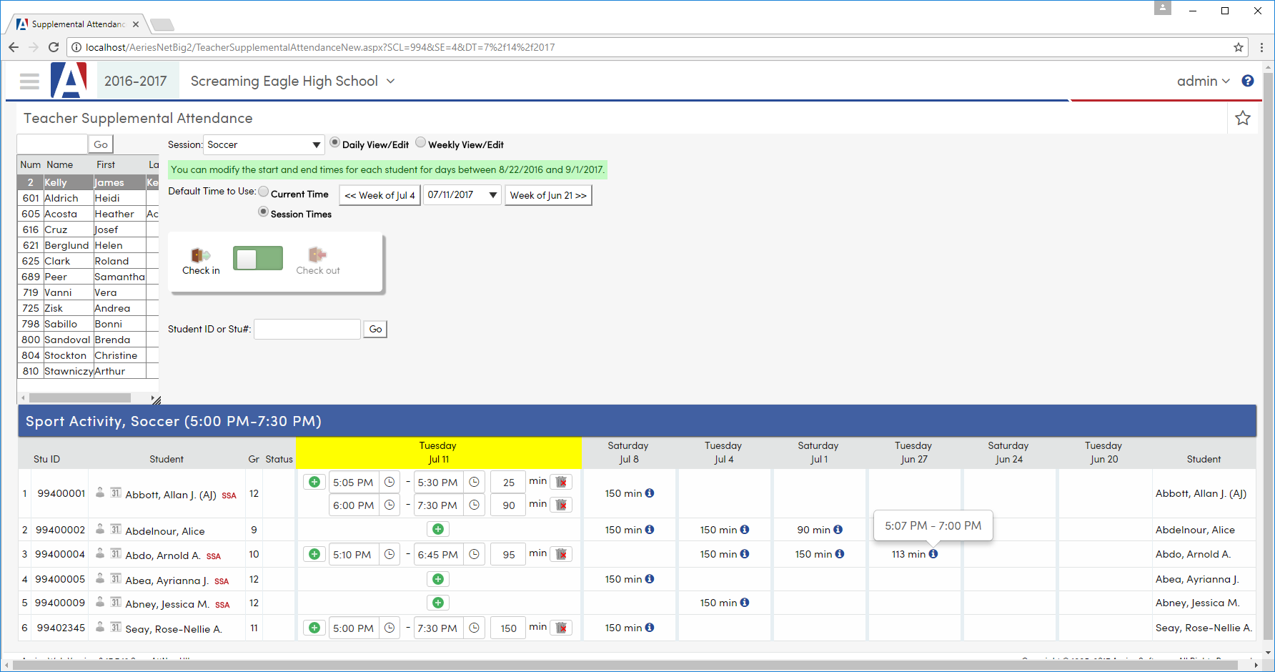 Aeries Student Information System - Eagle Software